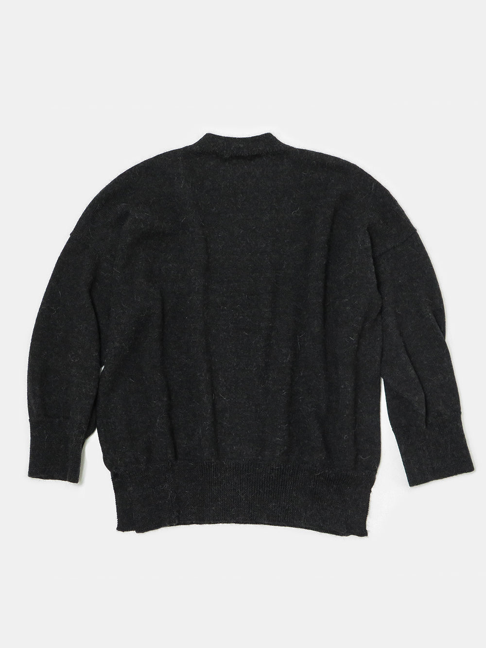lauren manoogian wide crewneck in black melange
