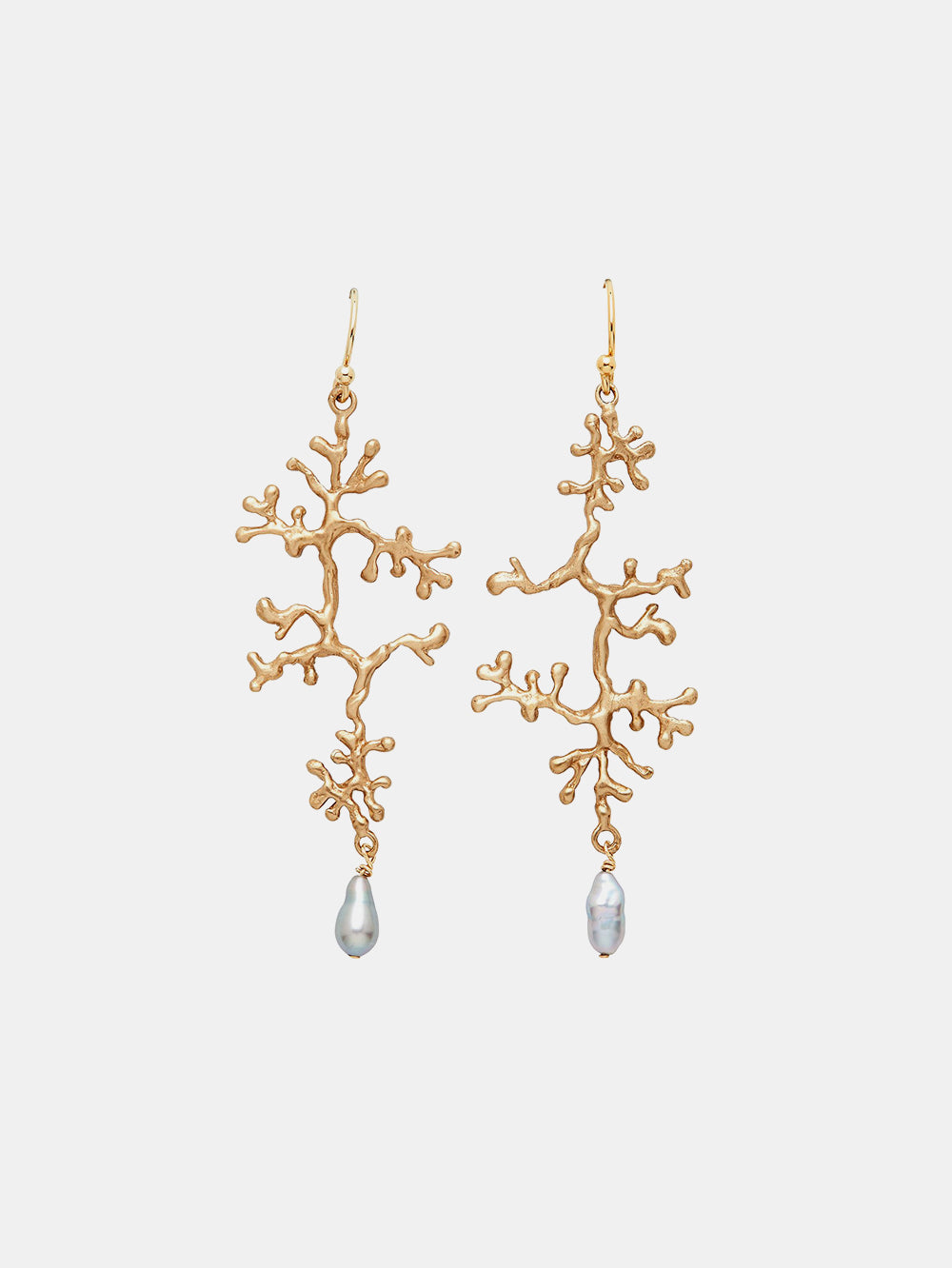 julie cohn lichen and pearl bronze earrings