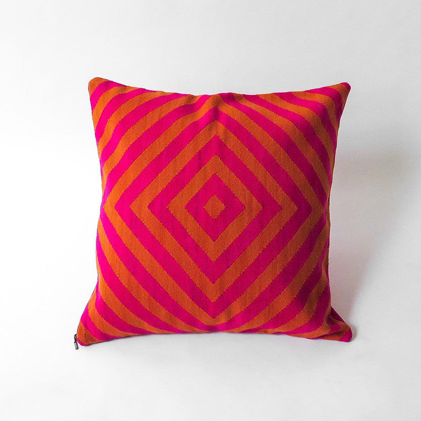llama diamond weave pillow