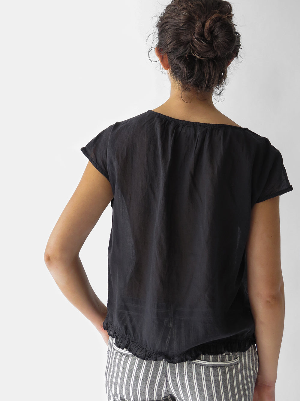 local lavinia shirt in washed black