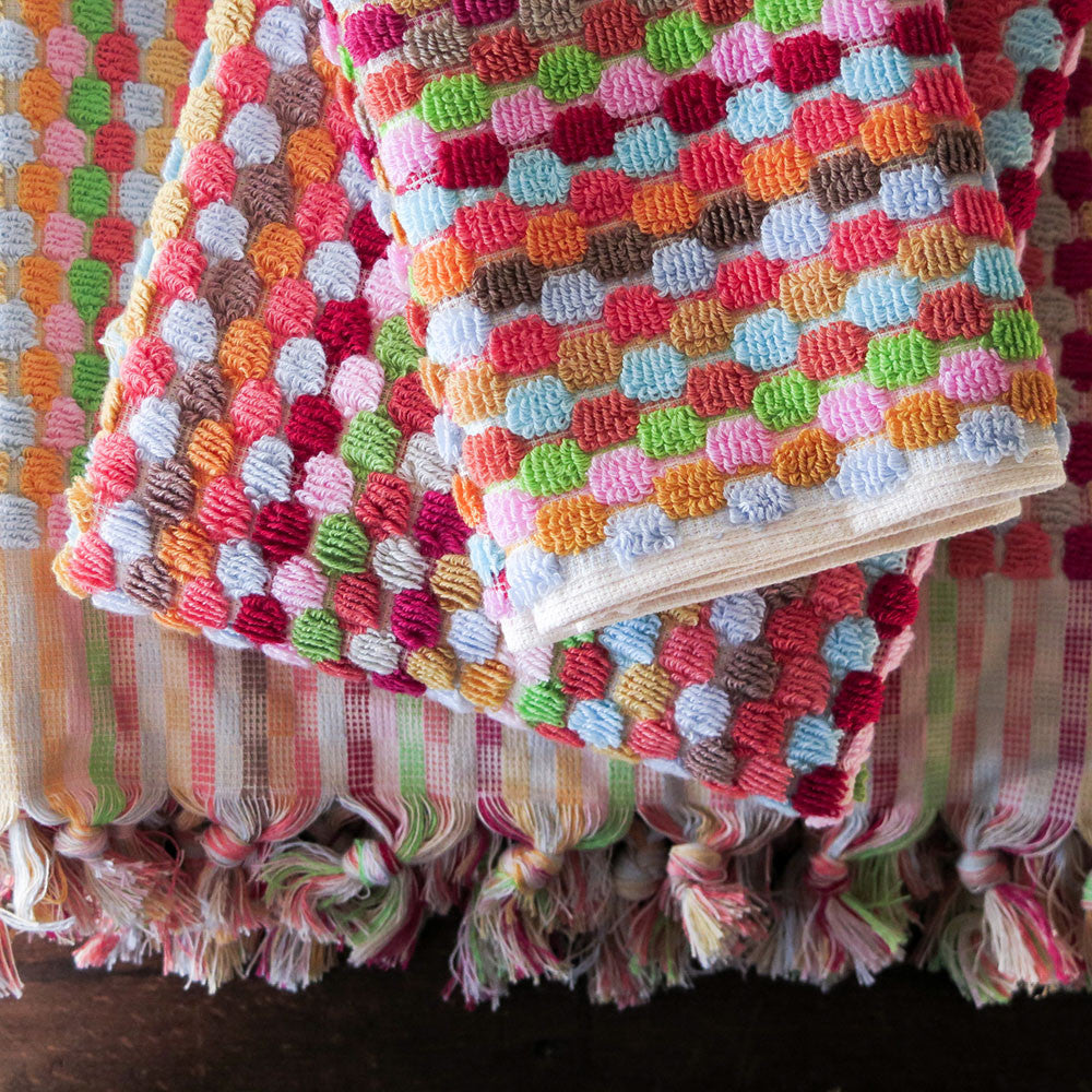 michele keeler candy dot towel