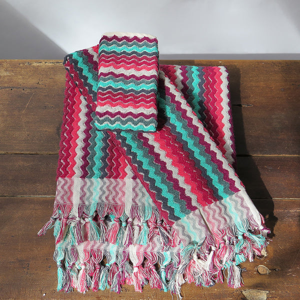 michele keeler zigzag towels
