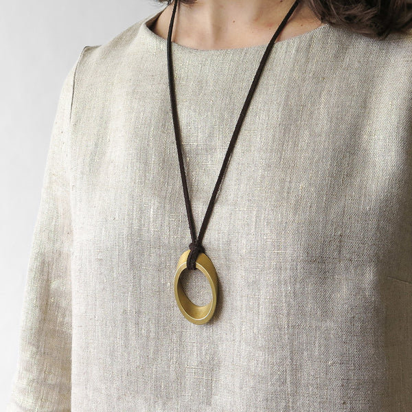 marmol radziner elliptical pendant necklace