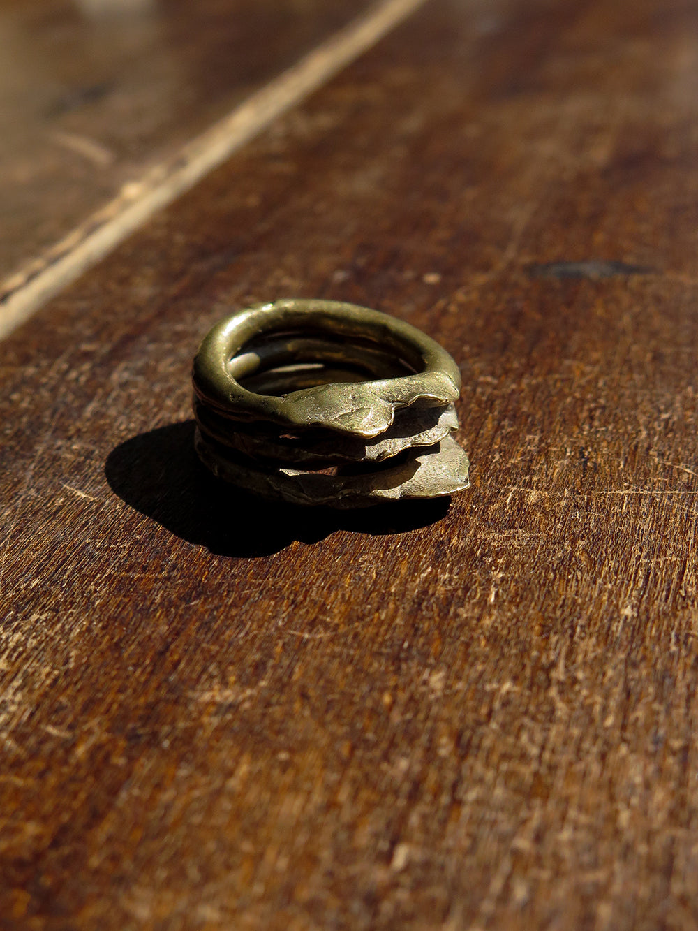 NN brass tier ring