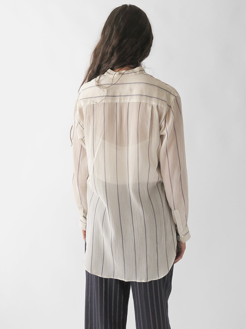 nico banda shirt in white stripe