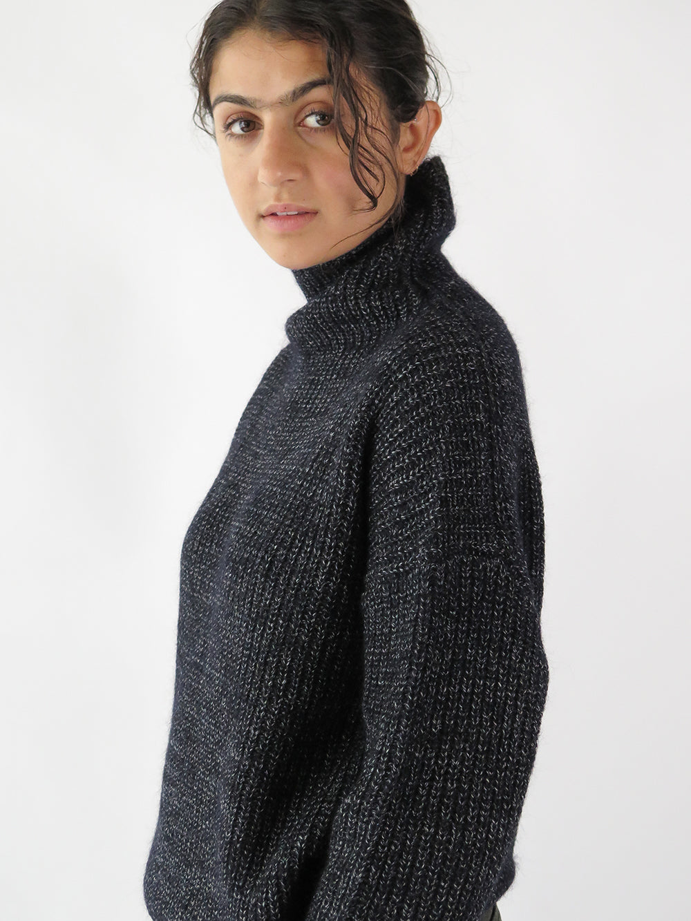 nico volcano sweater in navy