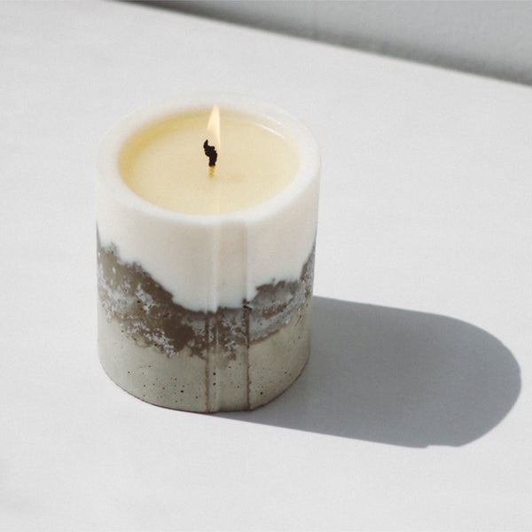 novel studios concrete candle