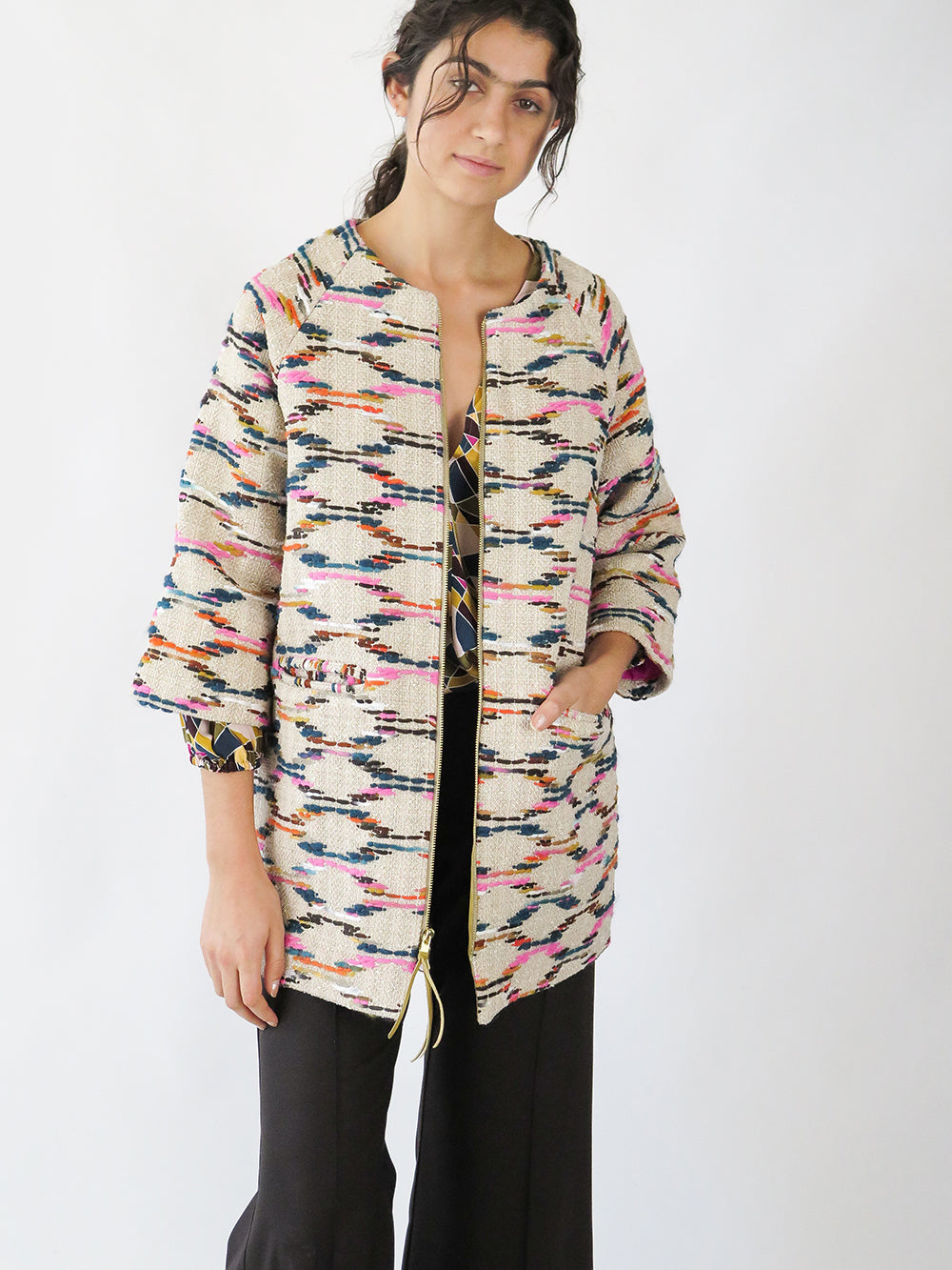 pastis coat in sijuna tapestry