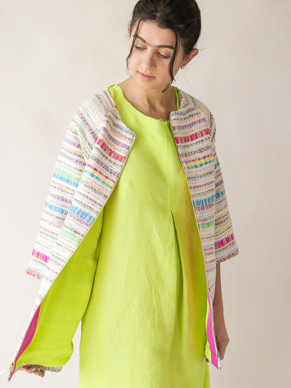 pastis coat in tuloni tapestry