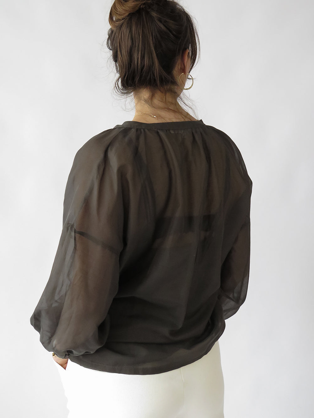 patricia blouse in army