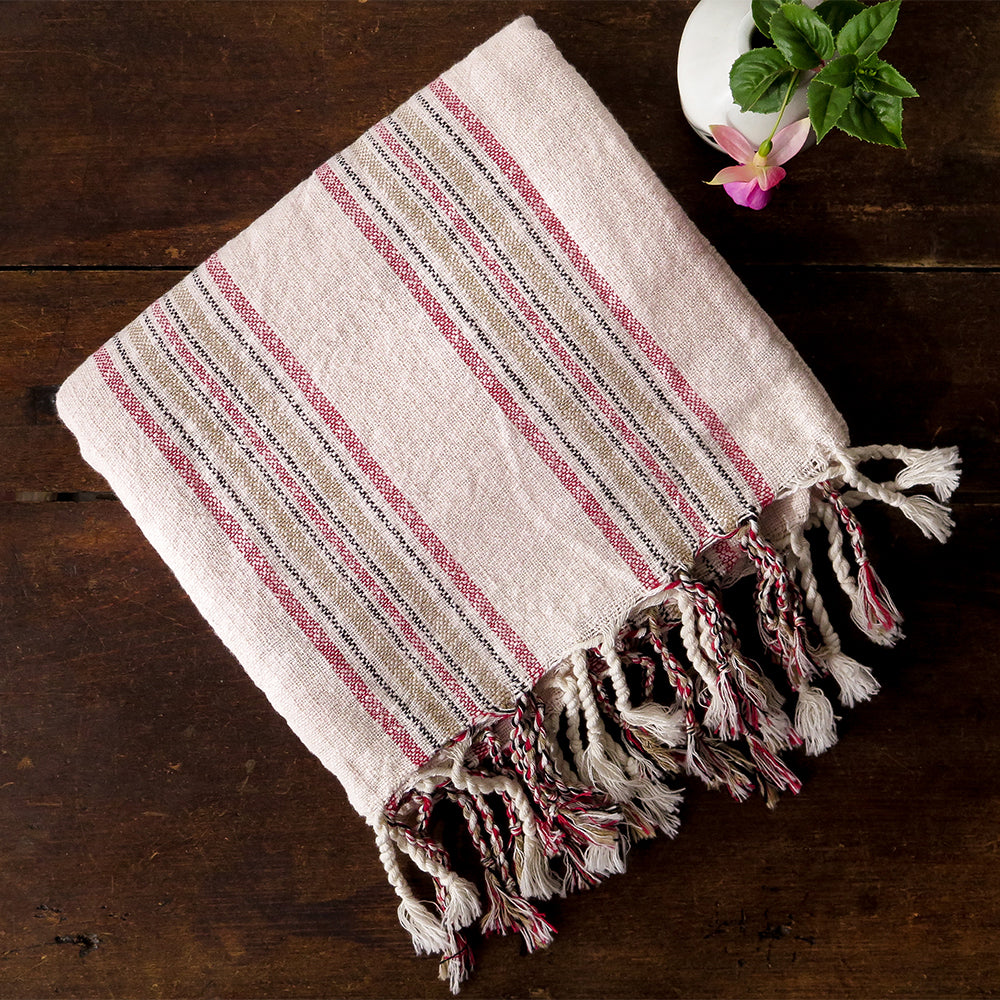 rose papirus turkish cotton towel
