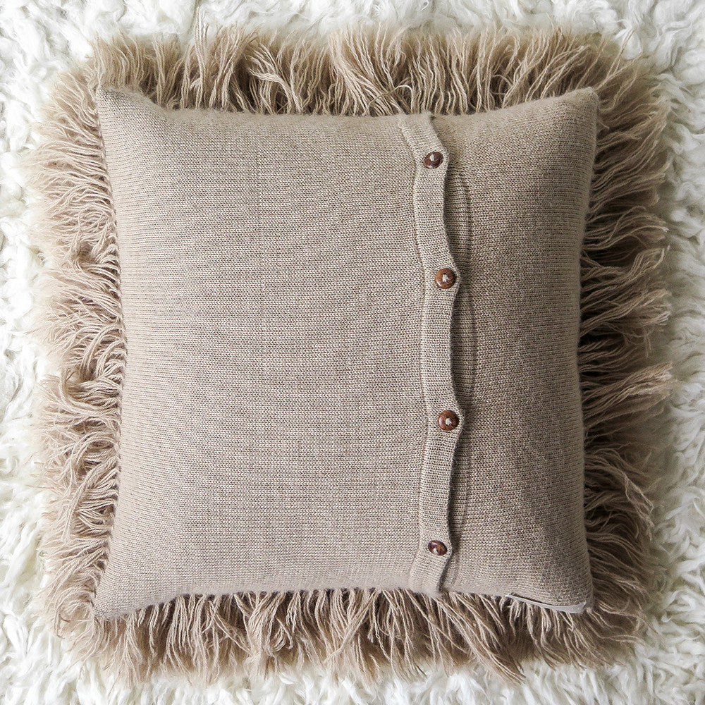 alpaca shag pillow