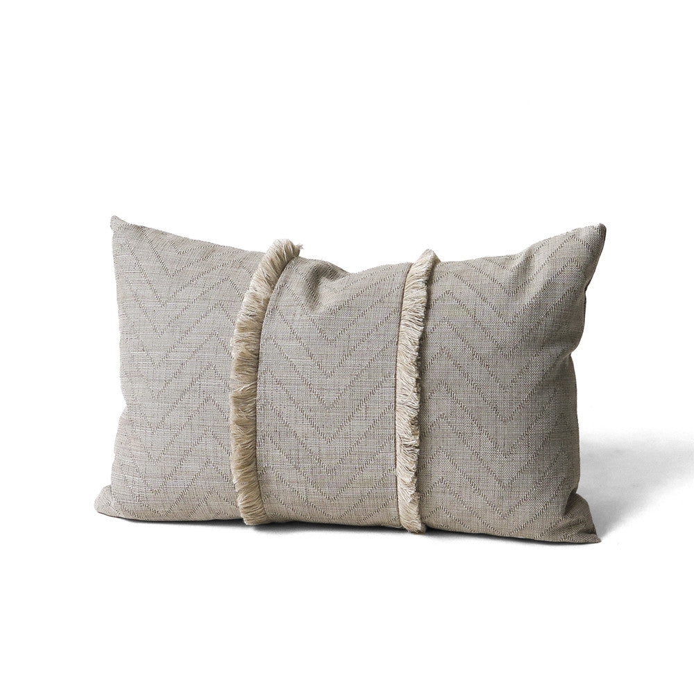 fringed zigzag throw pillow