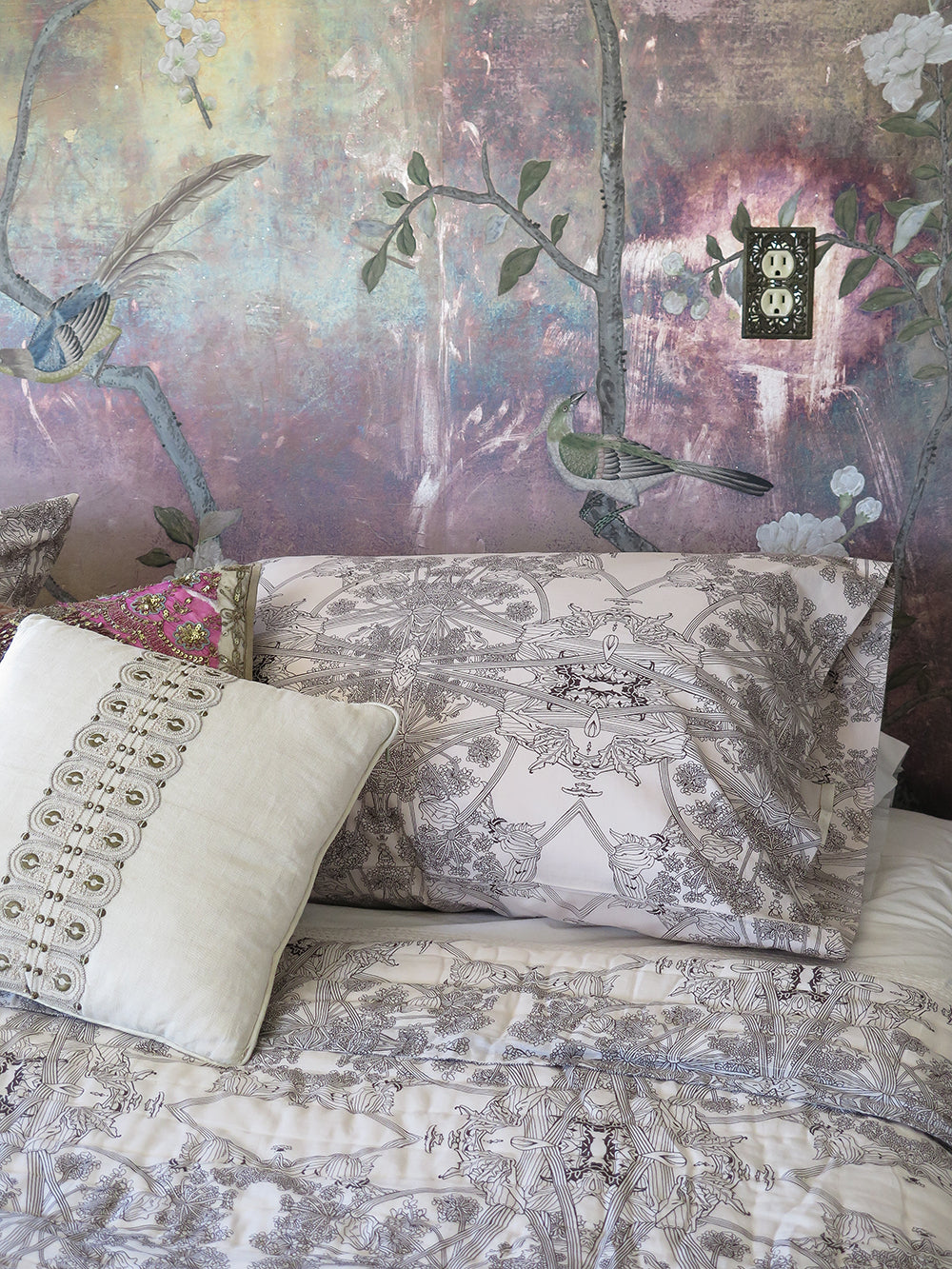 botanicus pillowcases in dove and dark chocolate