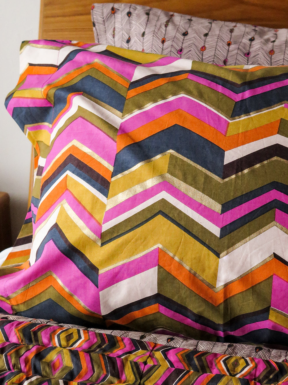 pillowcase pair in zig zag