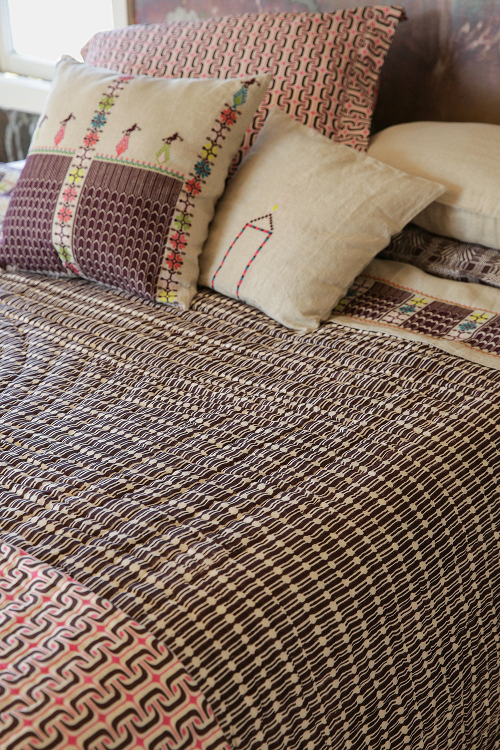 hand-stitched quilt in jacobsen