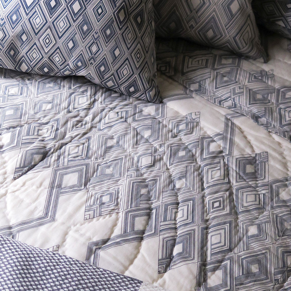 hand-stitched quilt in kelly ording cotton voile by erica tanov, 70 x 90