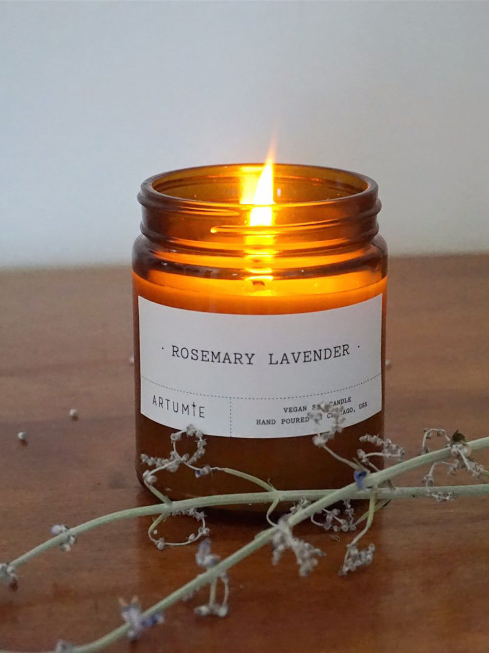artumie studio rosemary and lavender candle