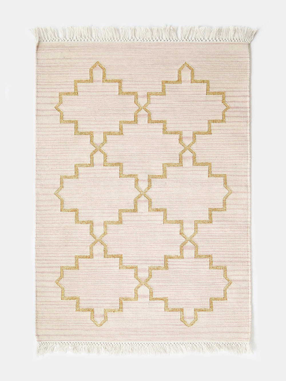 zanjeer rug in ecru + gold