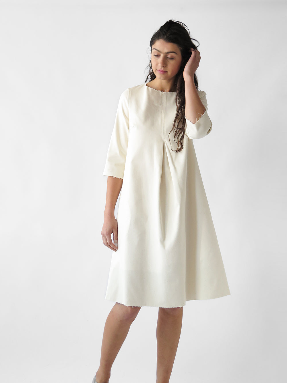 rye dress in natural