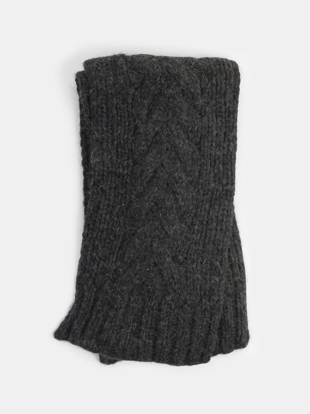 cable scarf in charcoal