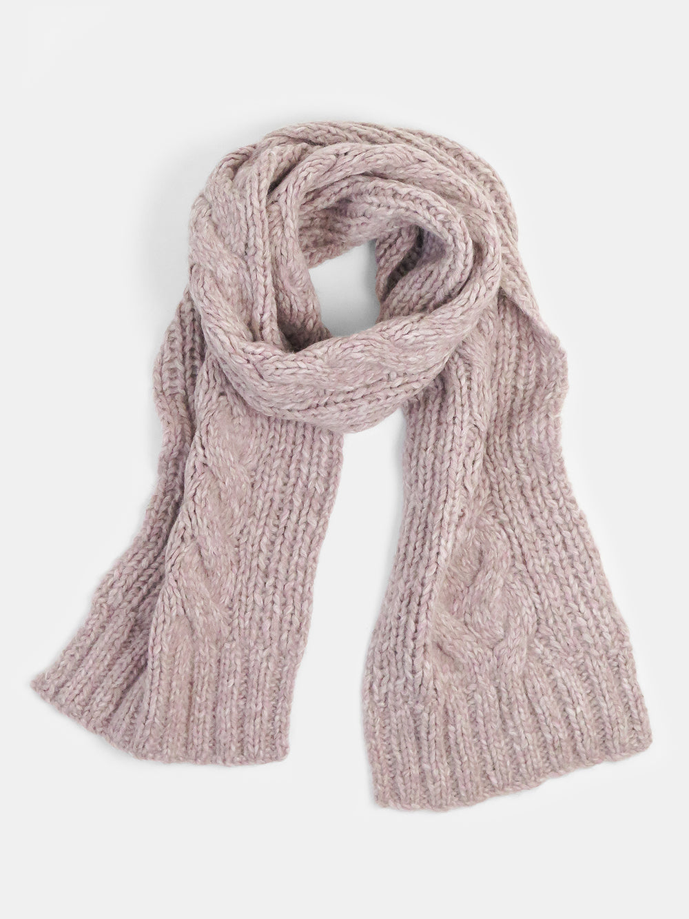 cable scarf in rose
