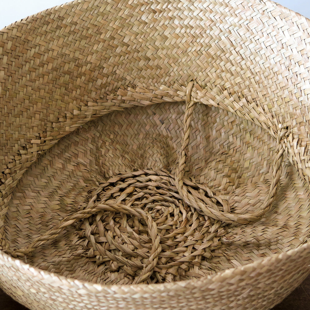 large convertible seagrass basket