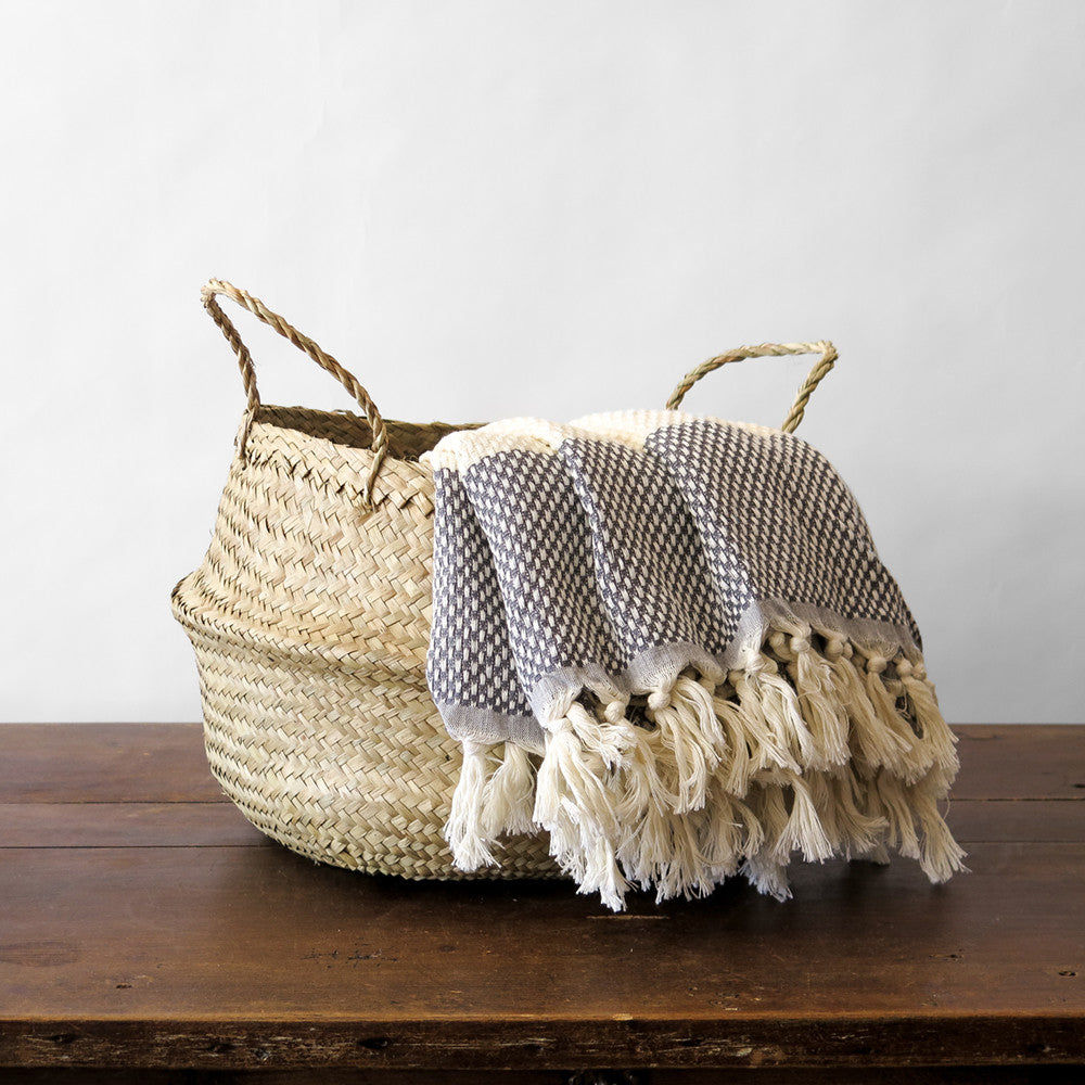 medium convertible seagrass basket