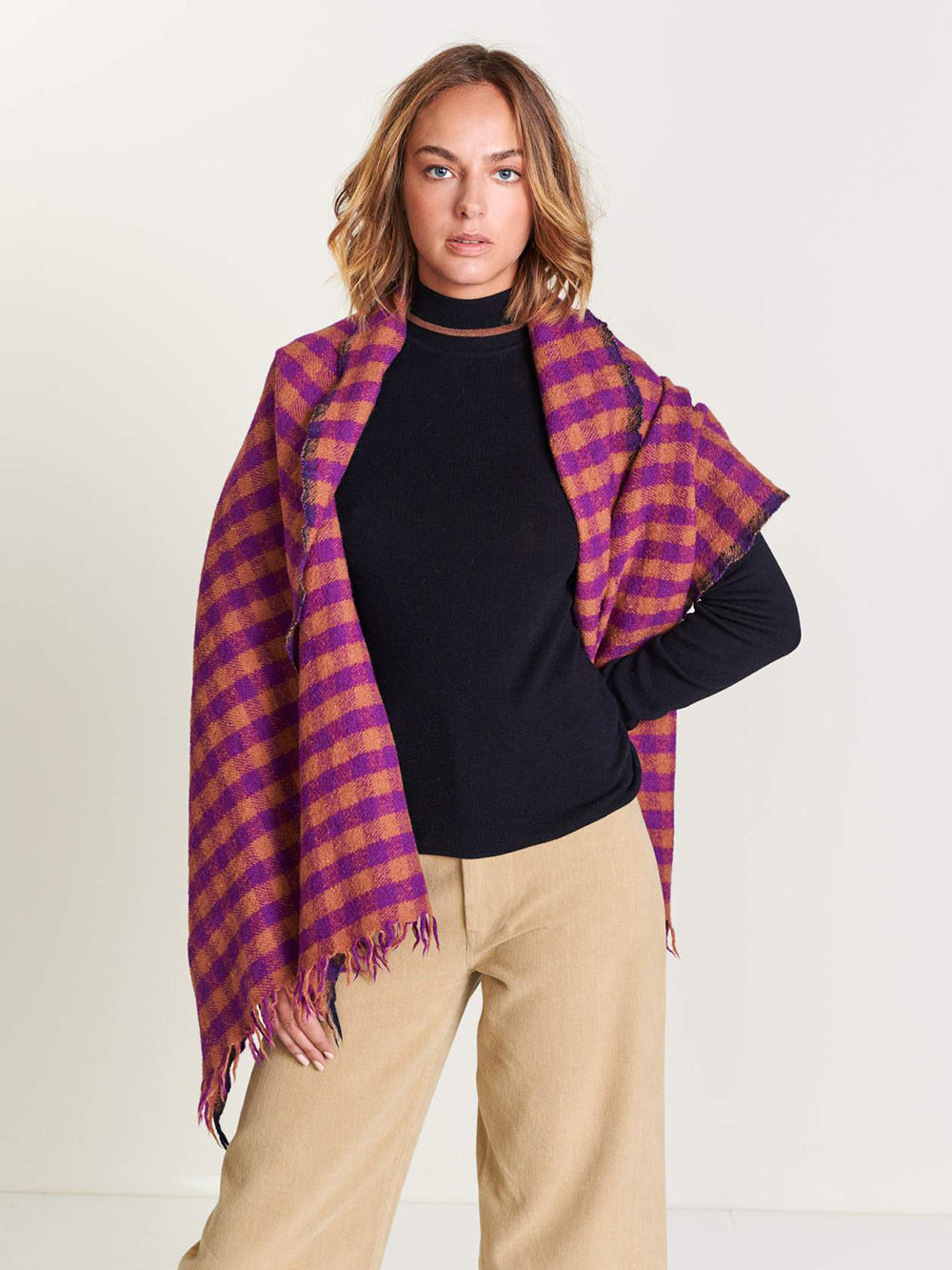 bellerose sidar scarf in check a