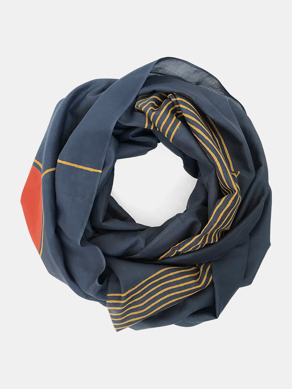block shop sunset point scarf in navy