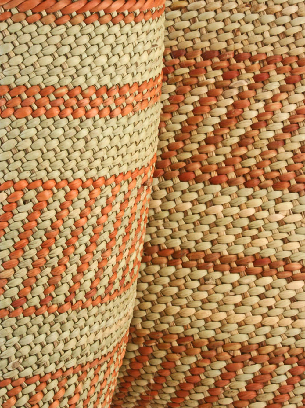 medium iringa basket in natural + umber