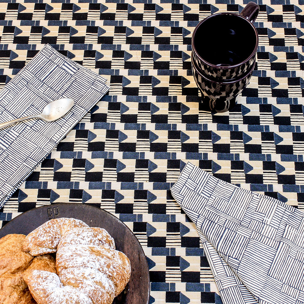 canvas table runner by erica tanov