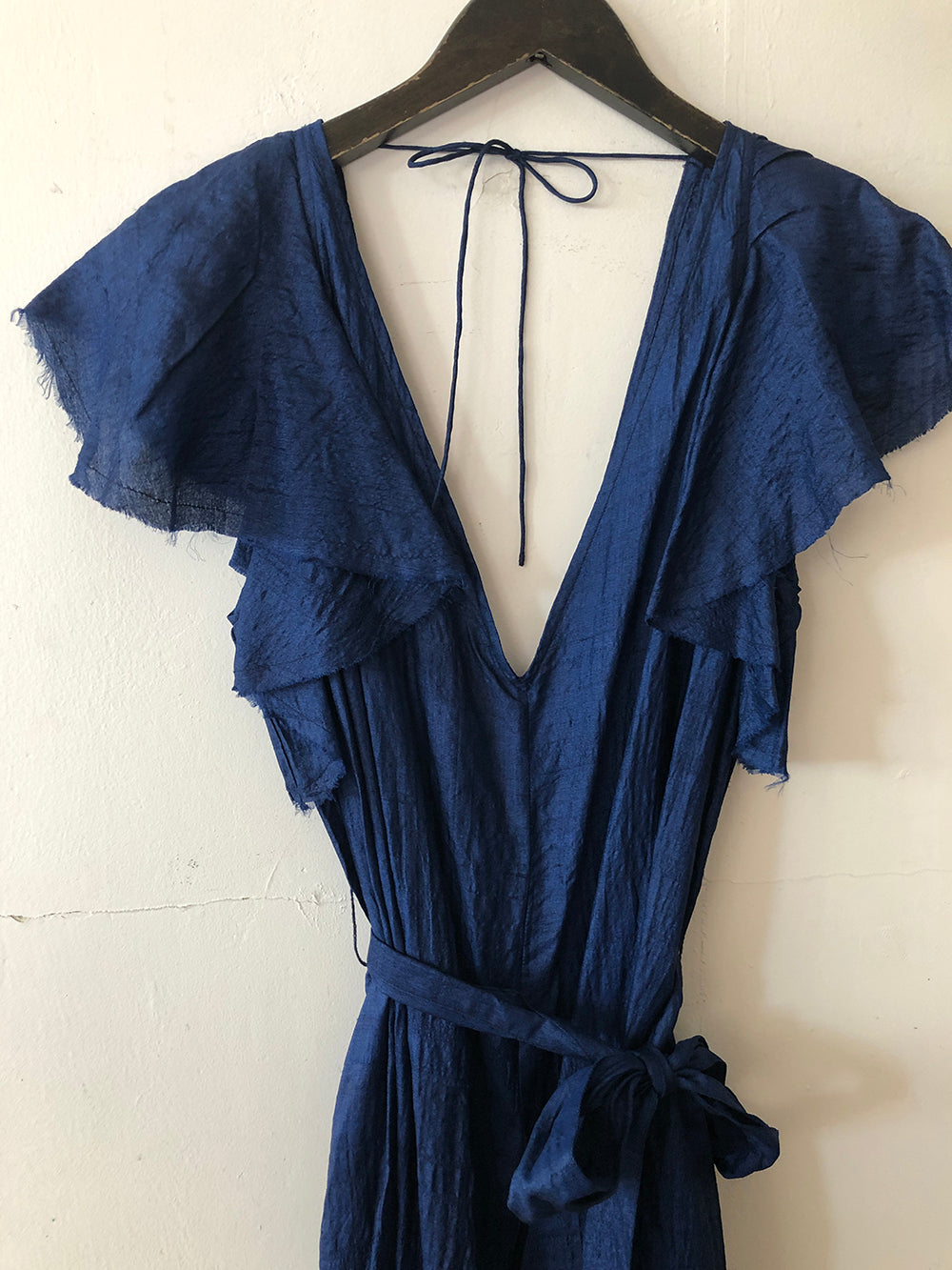 anaak talitha flutter jumpsuit in cobalt