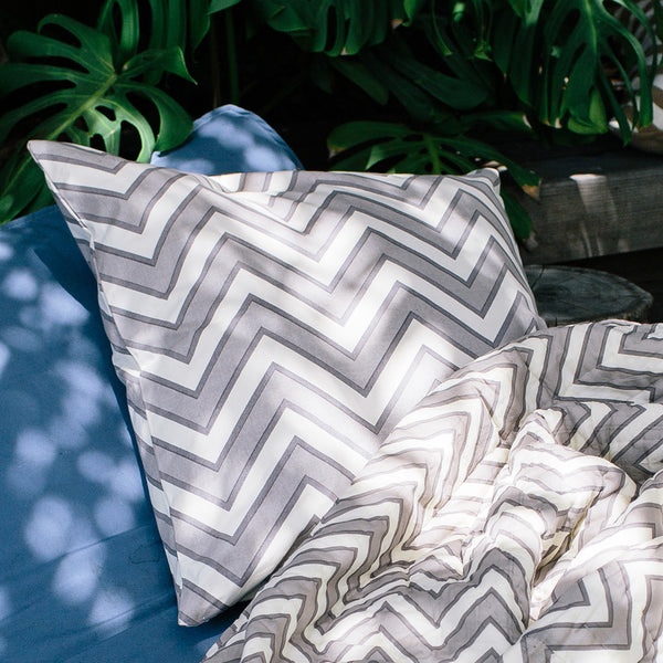 zigzag euro throw pillow
