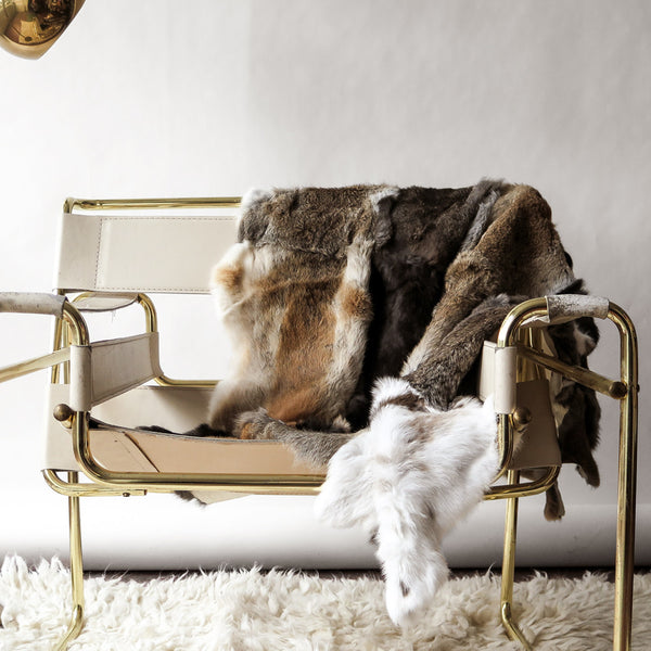 rabbit fur throw