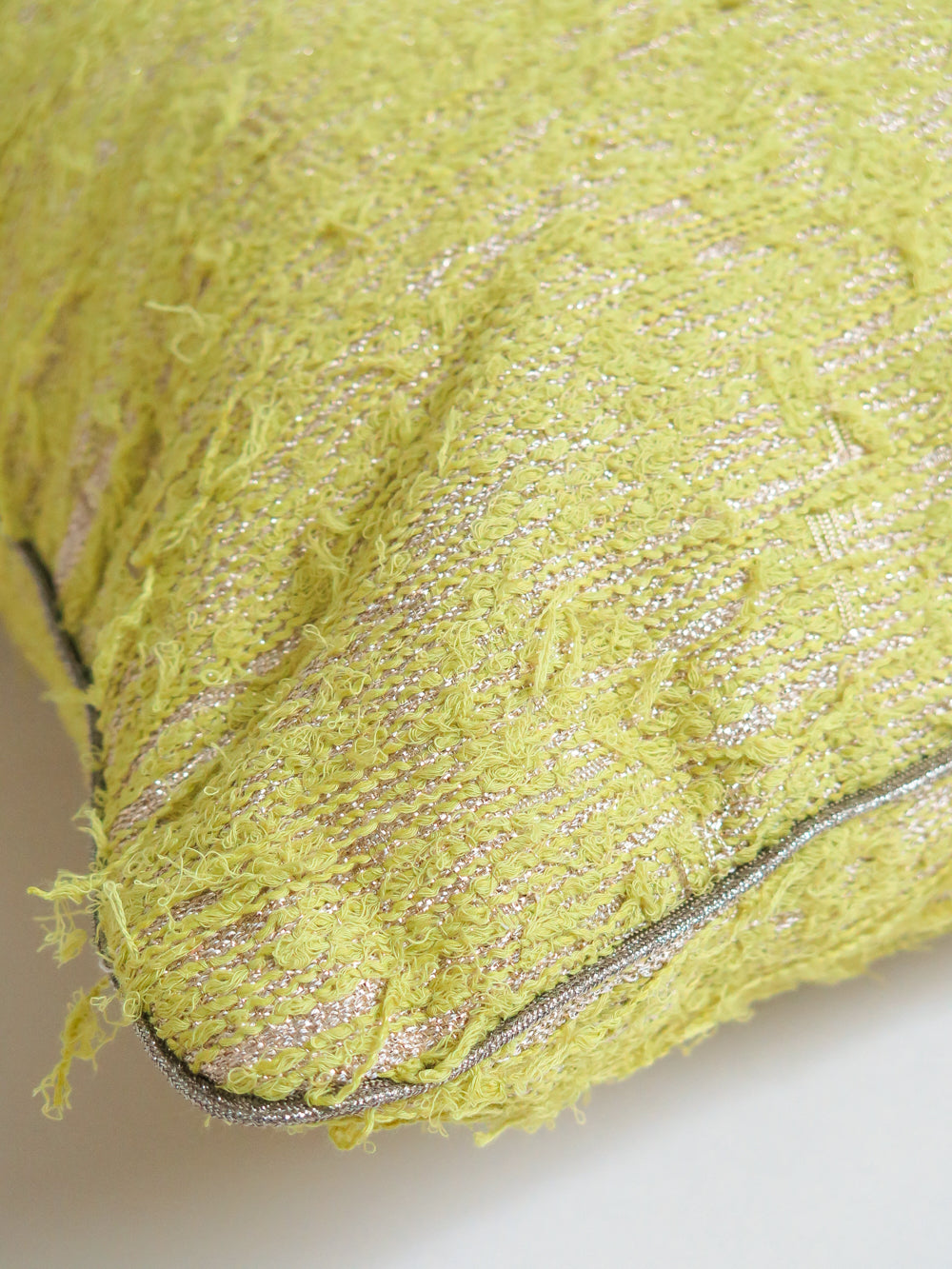 tapestry throw pillow in lichen