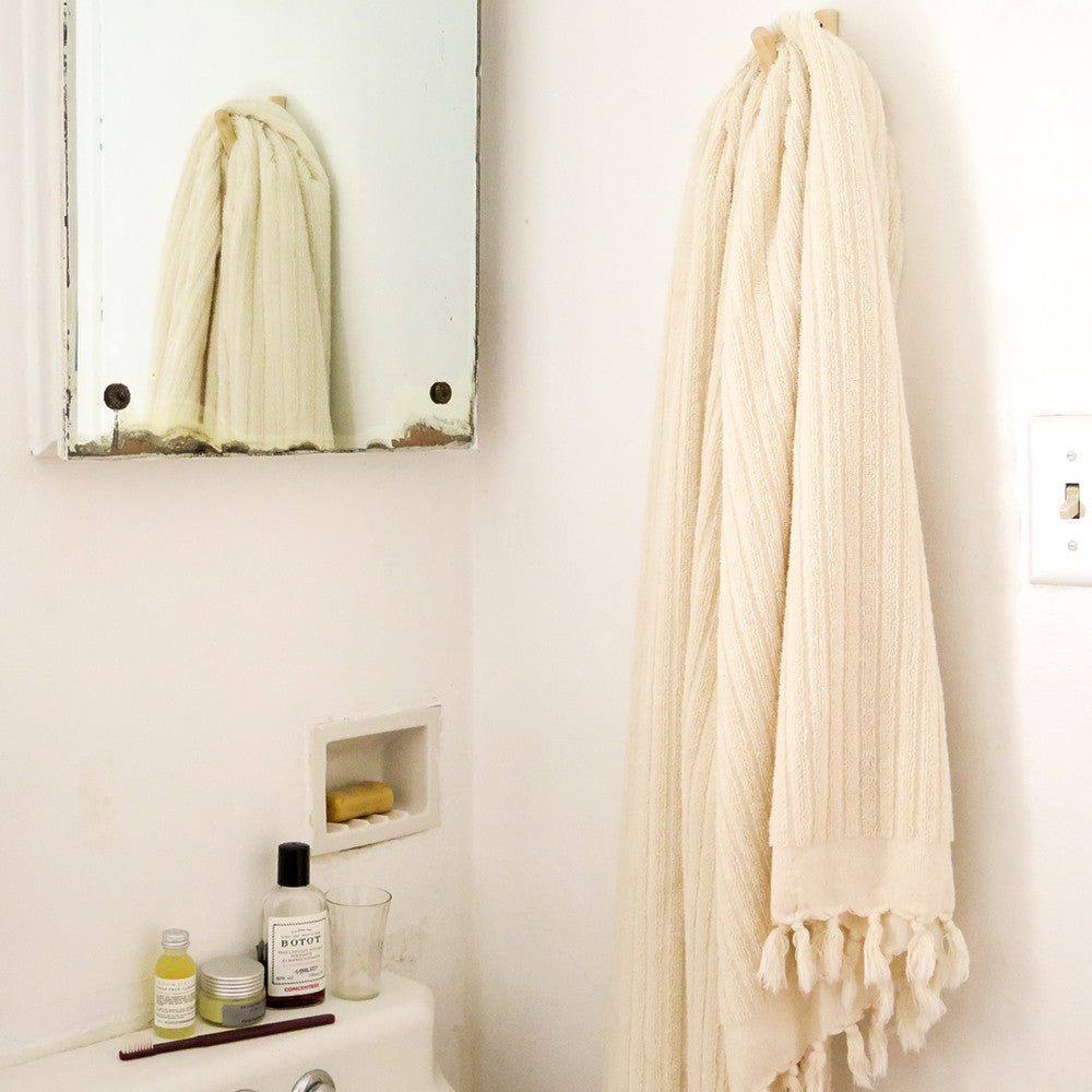 turkish terry stripe towel
