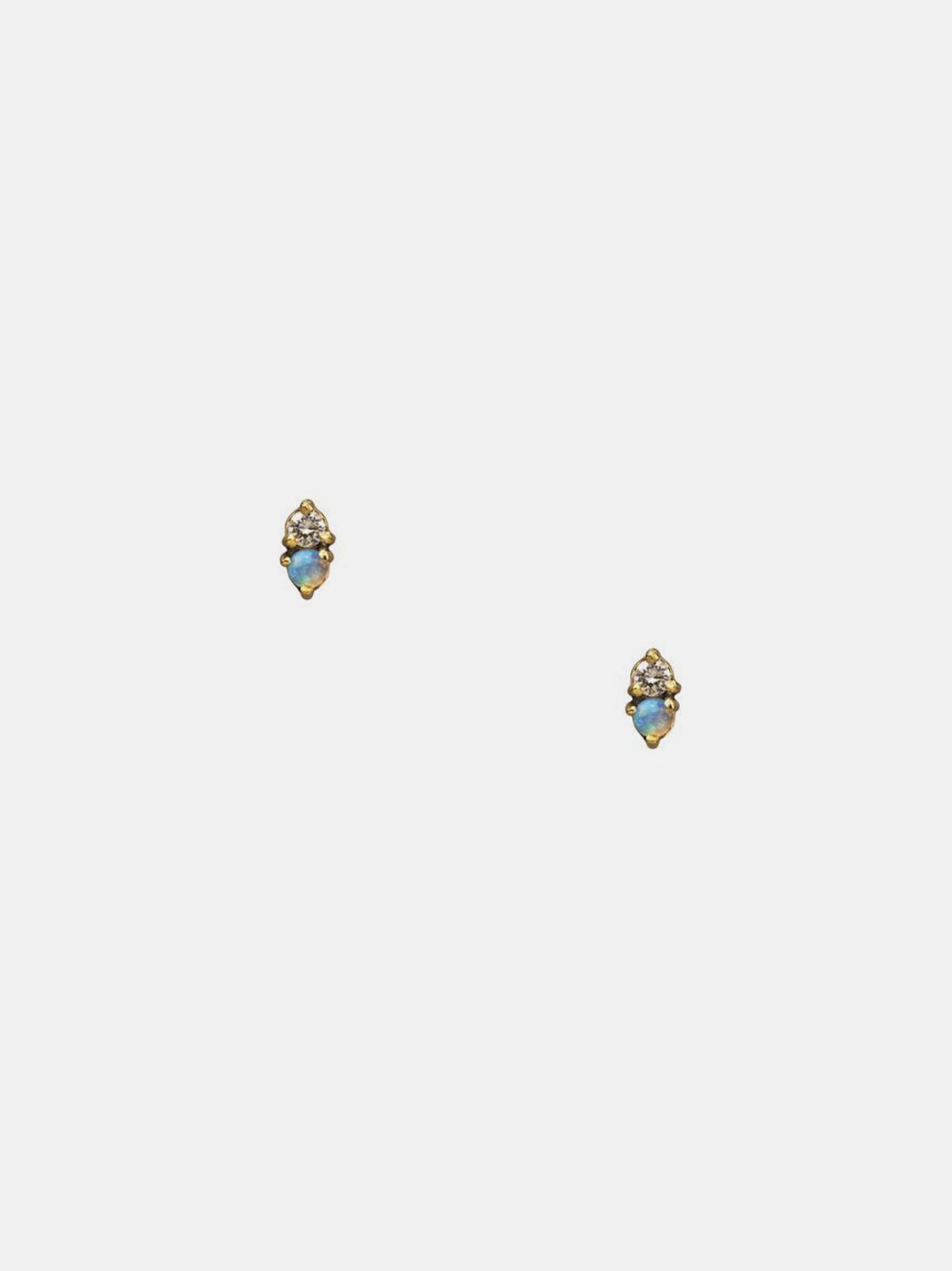 wwake opal and tanzanite two step earring