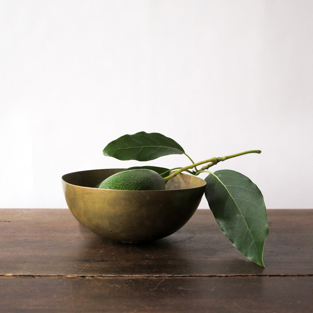 small hand-formed brass bowl