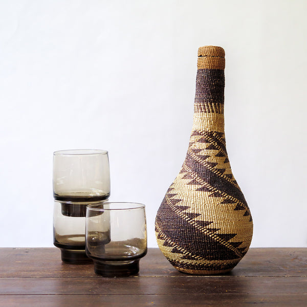 handwoven decanter