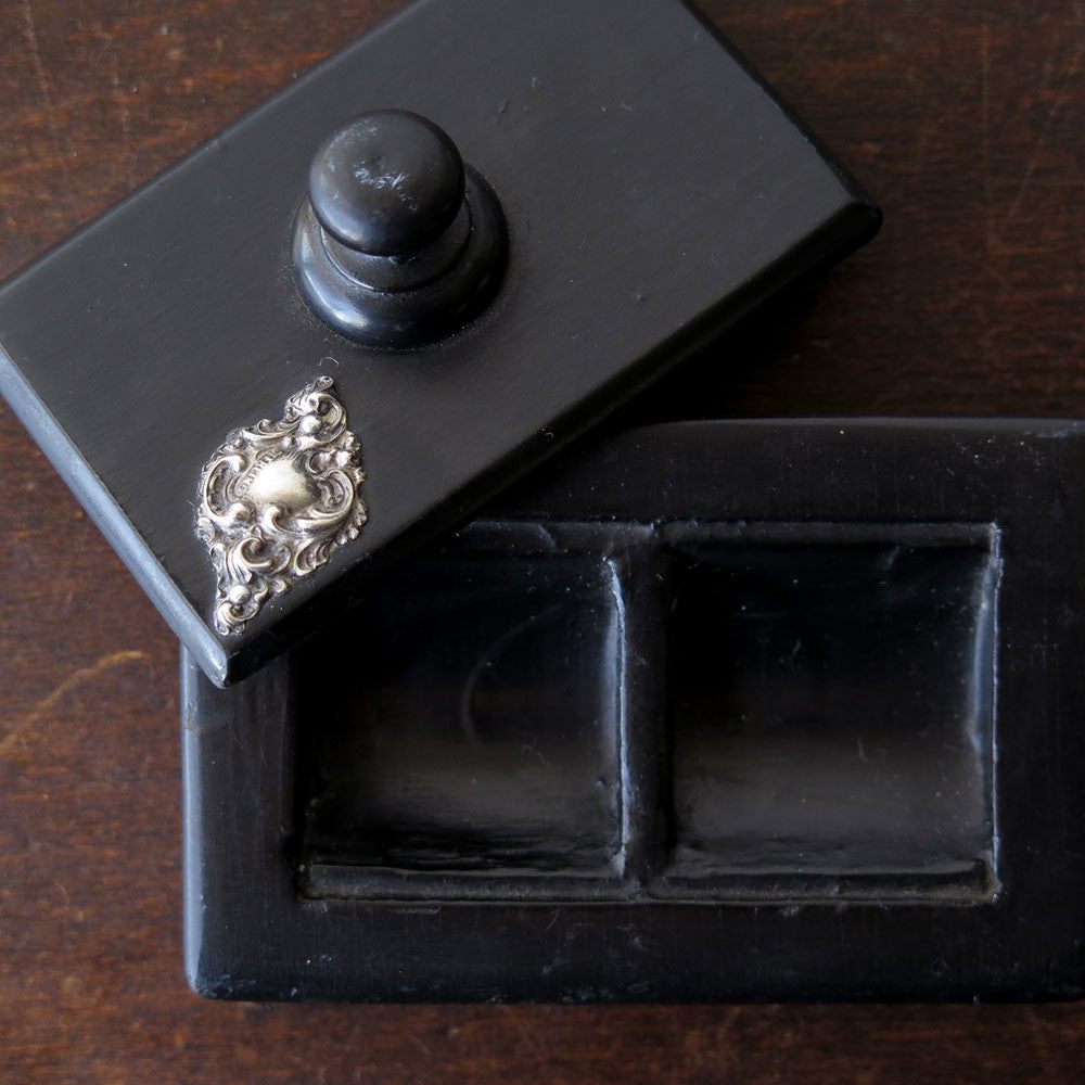 ebony + sterling tray