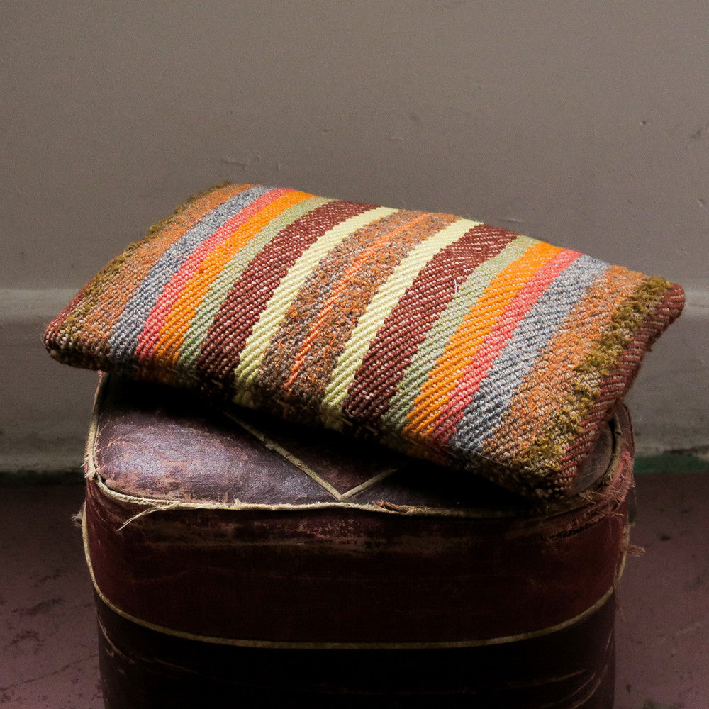 striped wool cushion