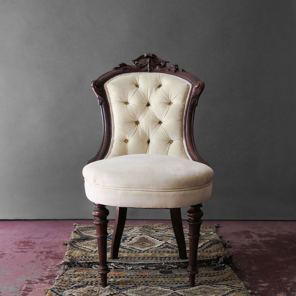 victorian slipper chair