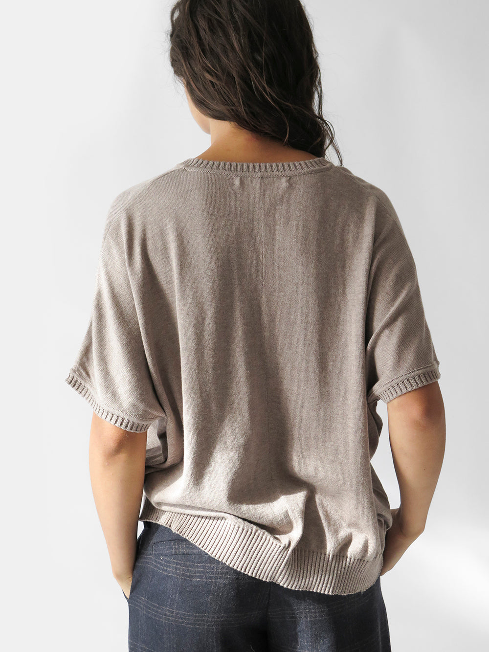 v-neck cocoon sweater