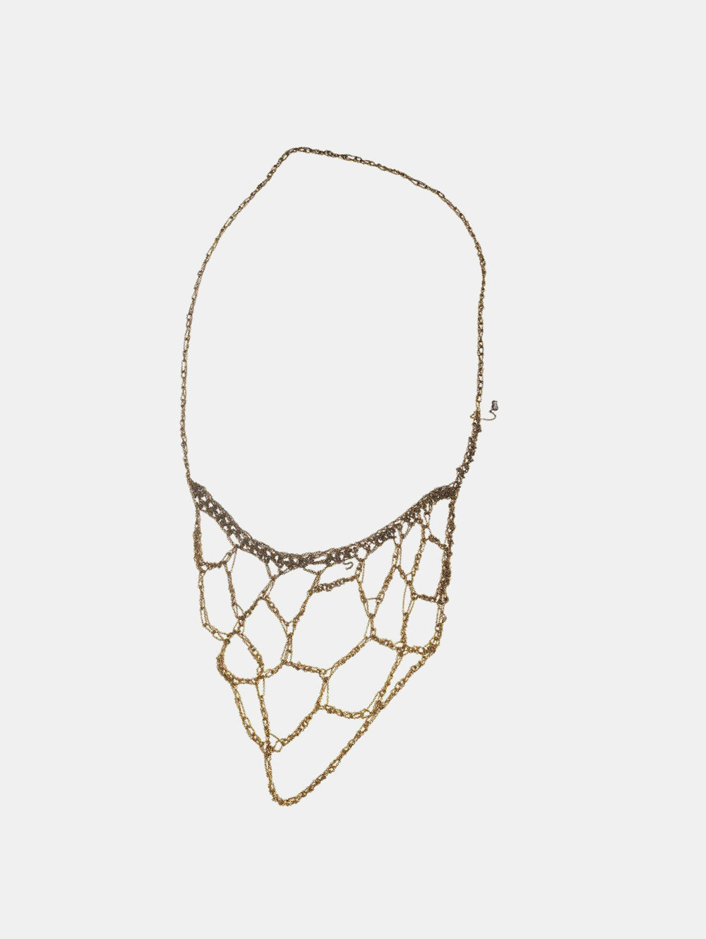 arielle de pinto web necklace in gold gradient