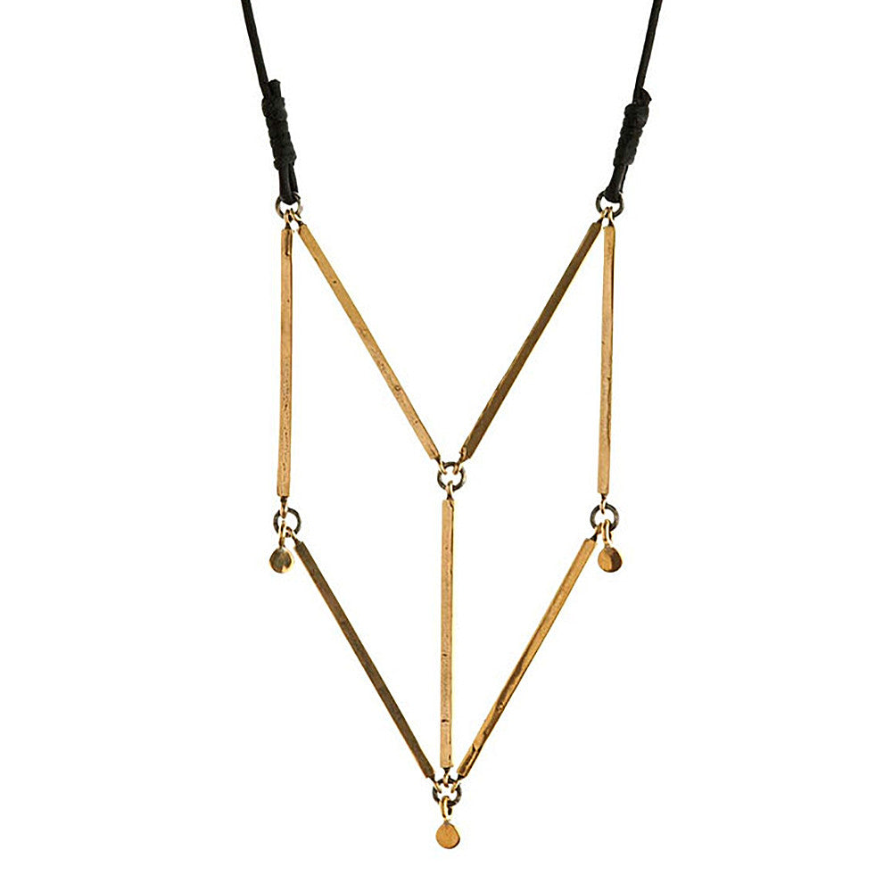 winifred grace geometric bar necklace