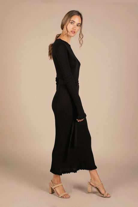 Dusty Sweater Dress, Black