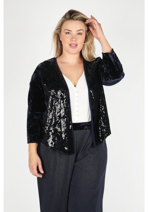 Sequin Asymmetric Blazer