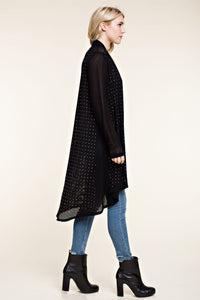 Studded Cardigan, Black