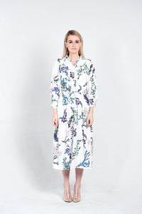 Hydrangeas Shirt Dress
